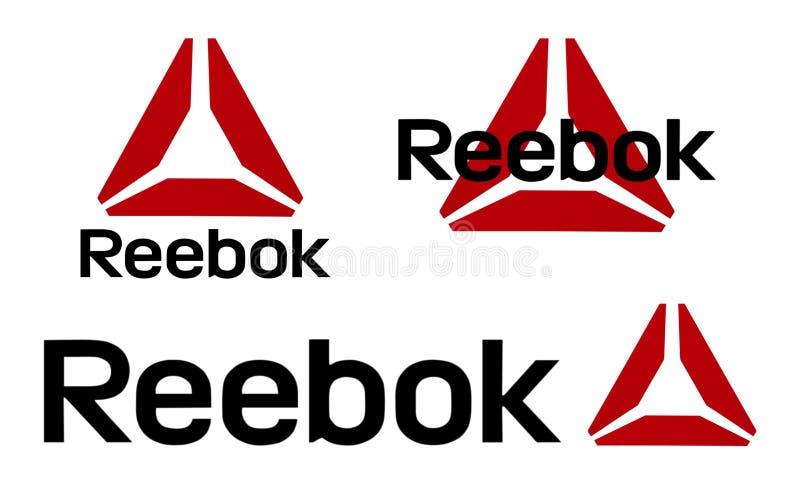 Uppsättning av Reebok logoer stock illustrationer