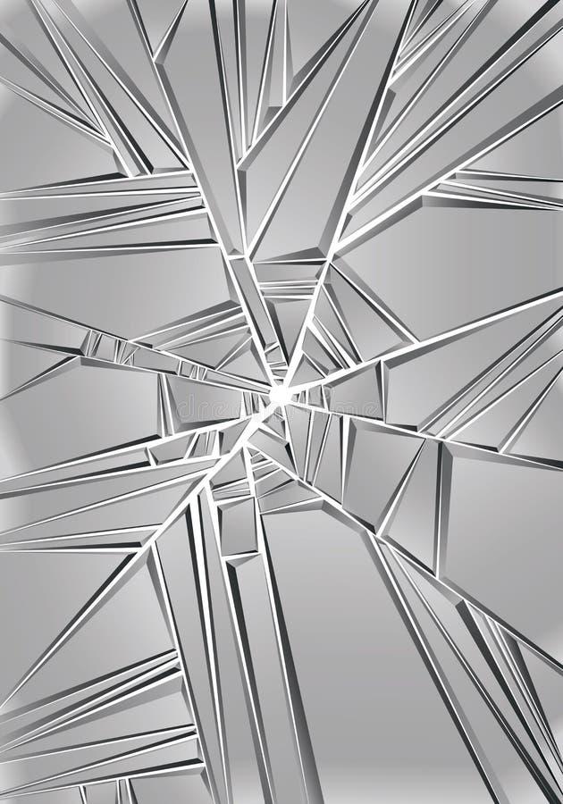 Uppsättning av reflekterande glass stycken, stock illustrationer