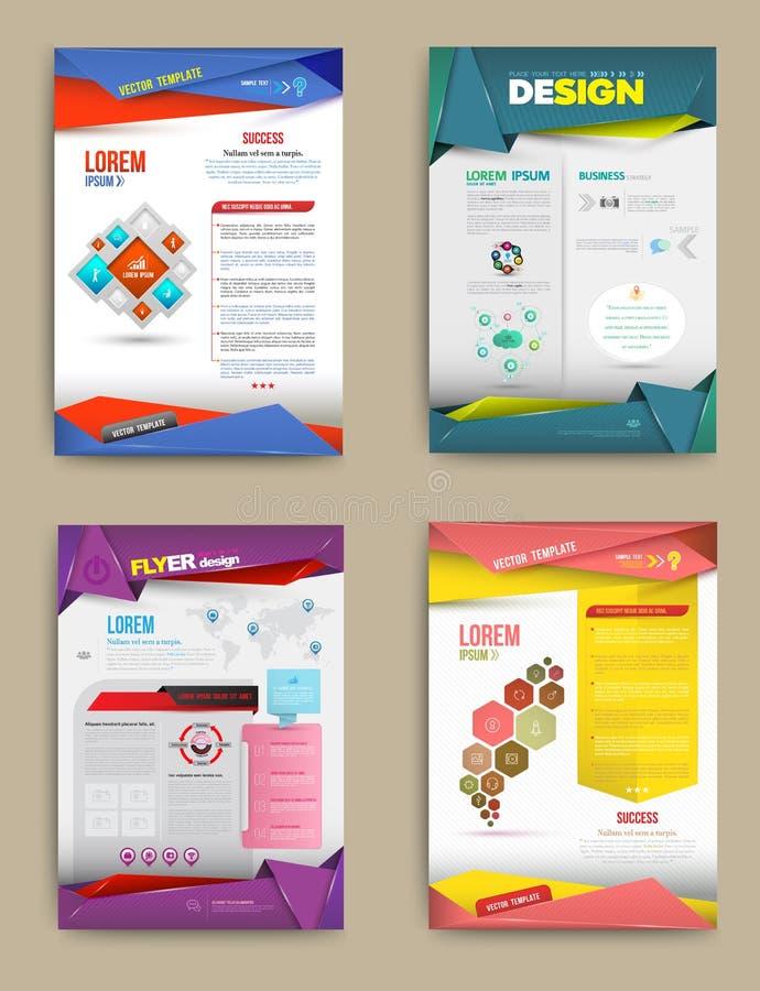 Uppsättning av reklambladet, broschyrdesignmallar royaltyfri illustrationer