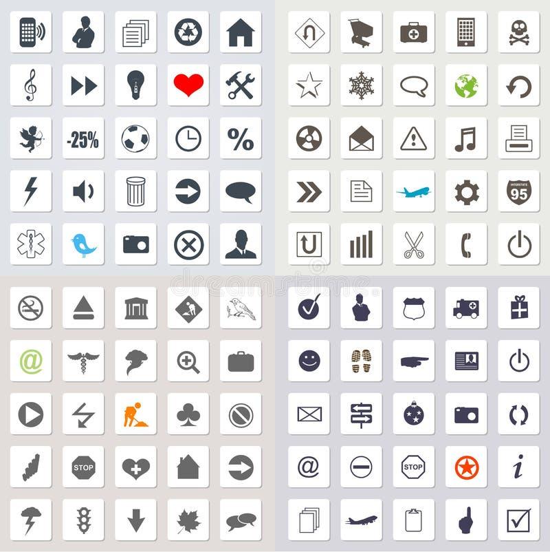 Uppsättning av rengöringsduksymboler stock illustrationer