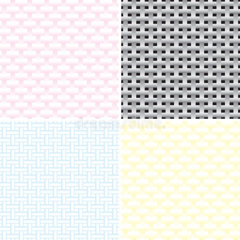 Uppsättning av sömlös geometrisk textur stock illustrationer