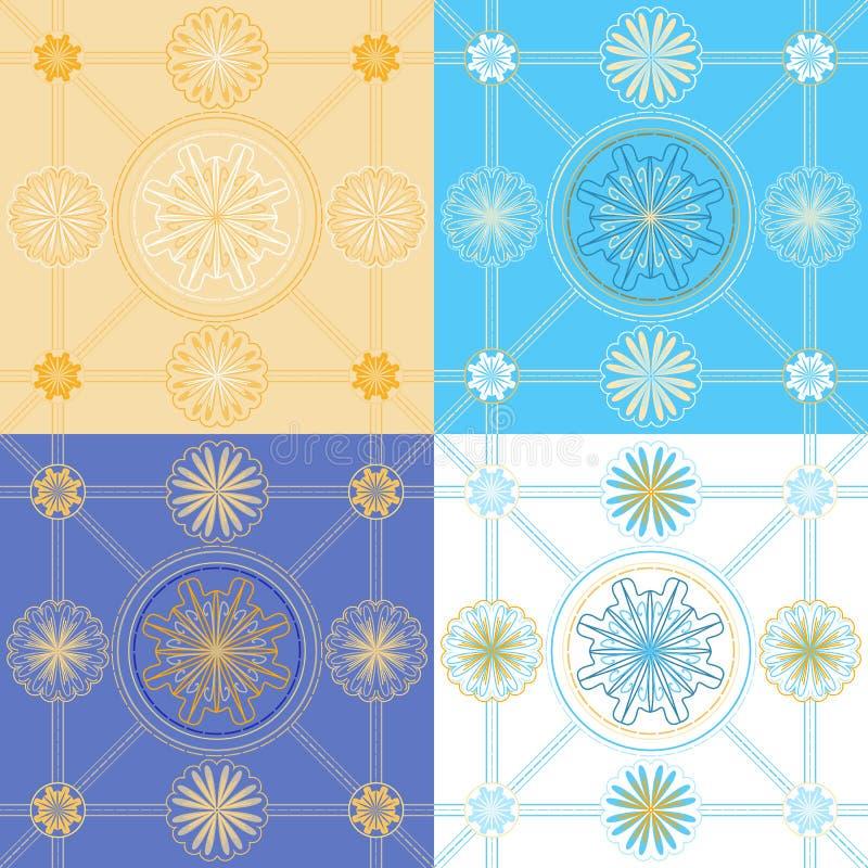 Uppsättning av sömlösa geometriska modeller royaltyfri illustrationer