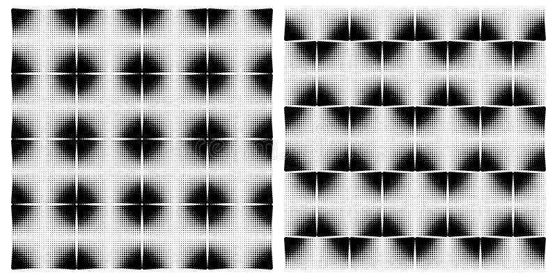 Uppsättning av sömlösa modeller - en tegelplatta från cirklar stock illustrationer