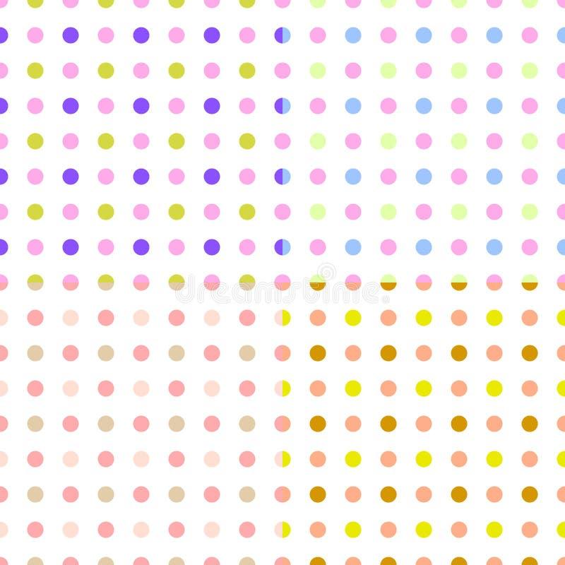 Uppsättning av sömlösa modeller med färgrikt pricktyg, tapet vektor stock illustrationer