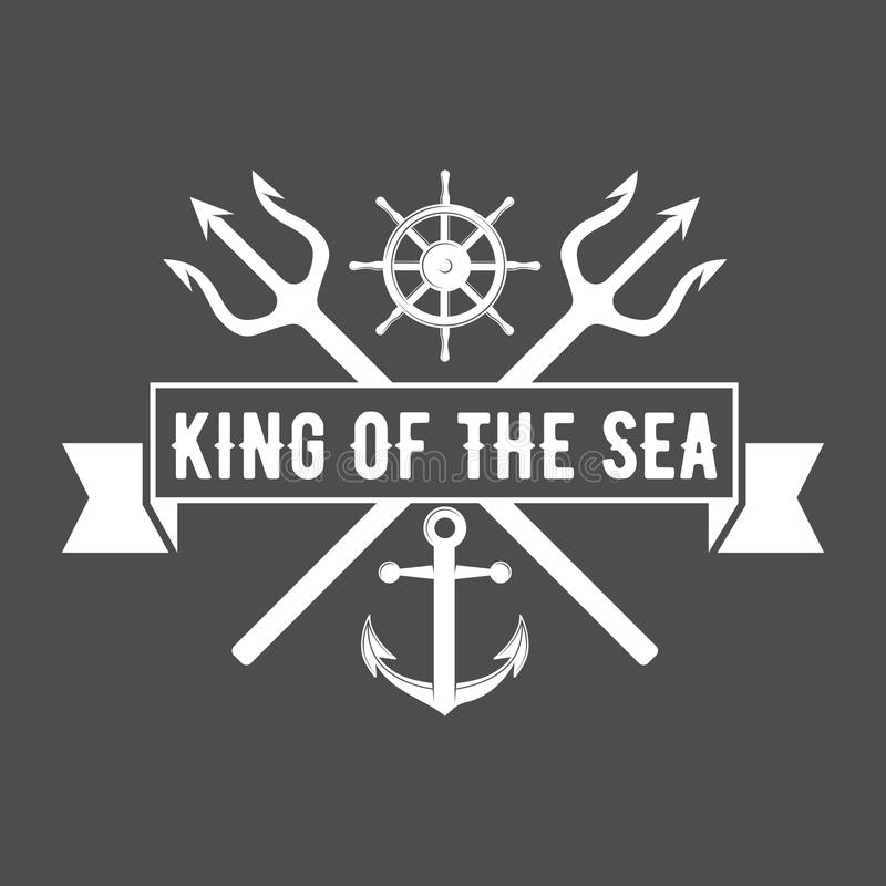 Uppsättning av seglingemblem och logoer royaltyfri illustrationer