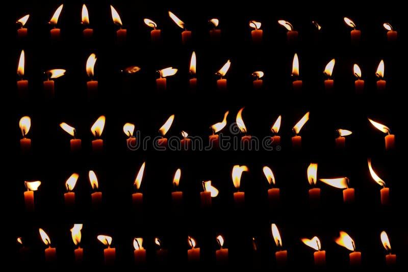Uppsättning av stearinljusljus arkivfoto