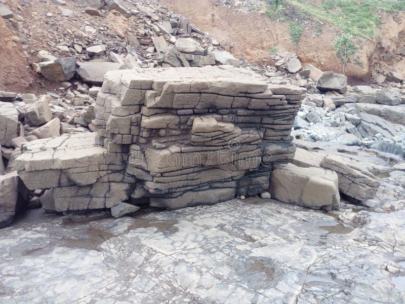 Uppsättning av stenen arkivfoto