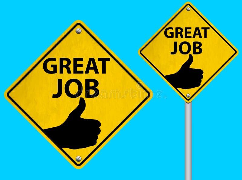 Uppsättning av stora Job Road Sign Vector Illustration vektor illustrationer