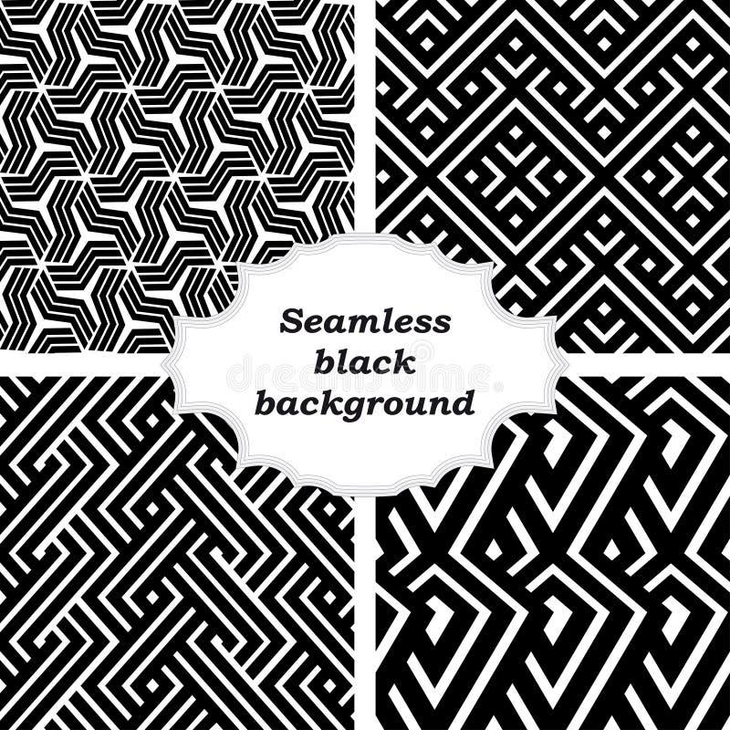 Uppsättning av svartvita modeller royaltyfri illustrationer