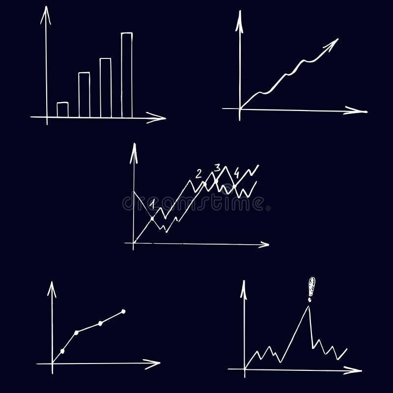 Uppsättning av symboler av scheman vektor illustrationer