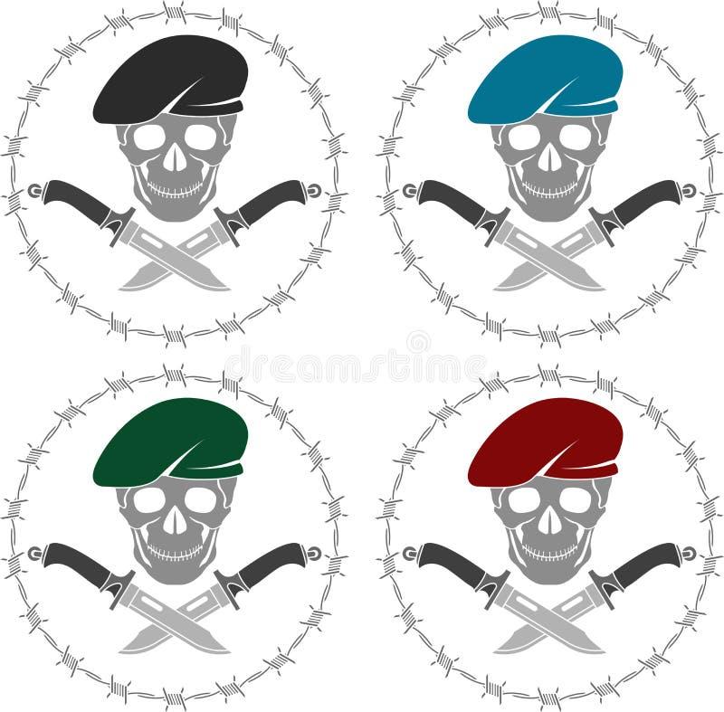 Uppsättning av symboler av specialförband stock illustrationer