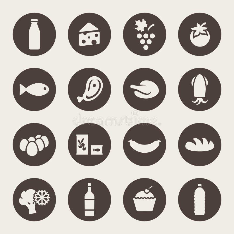 Download Uppsättning Av Symboler På En Temamat Vektor Illustrationer - Illustration av avbrottet, bakelser: 37347617