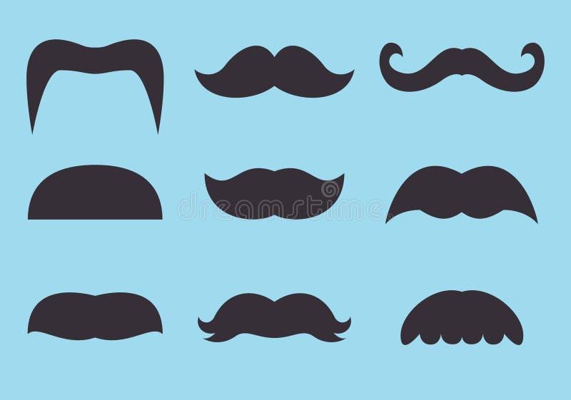 Moustache fotografering för bildbyråer