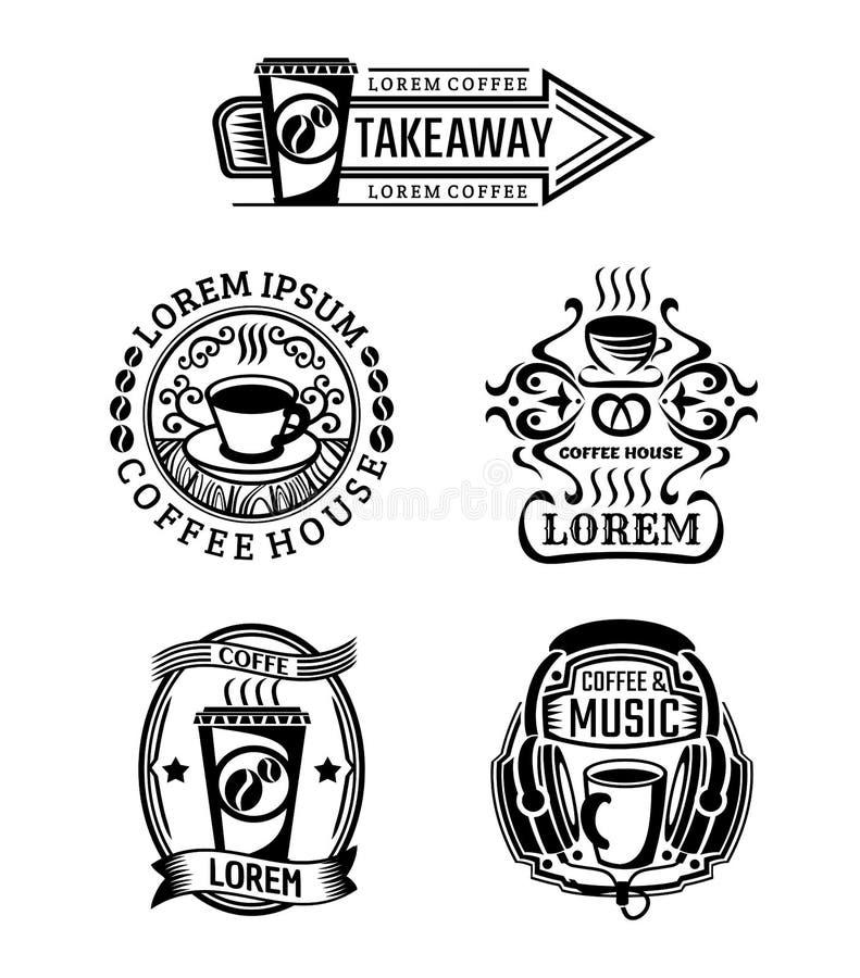 Uppsättning av tappningnötköttetiketter, logoer och emblem stock illustrationer