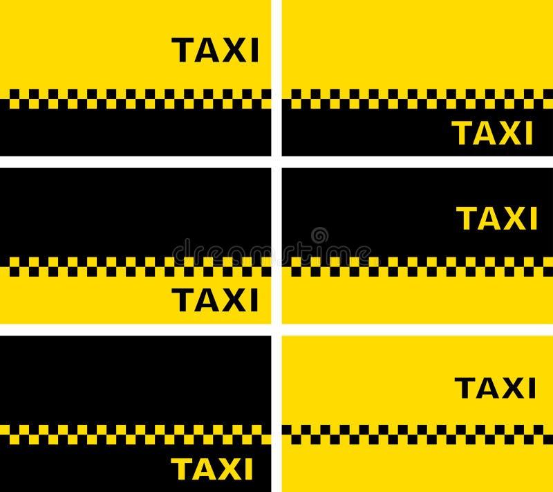 Uppsättning av taxiaffärskort vektor illustrationer