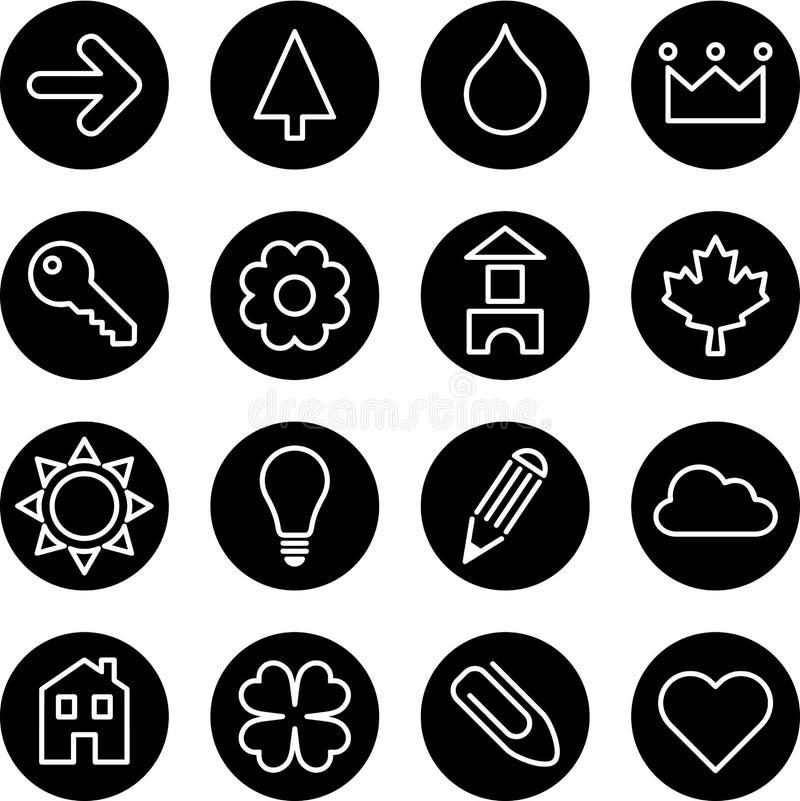 Uppsättning av tecken eller symboler royaltyfri illustrationer