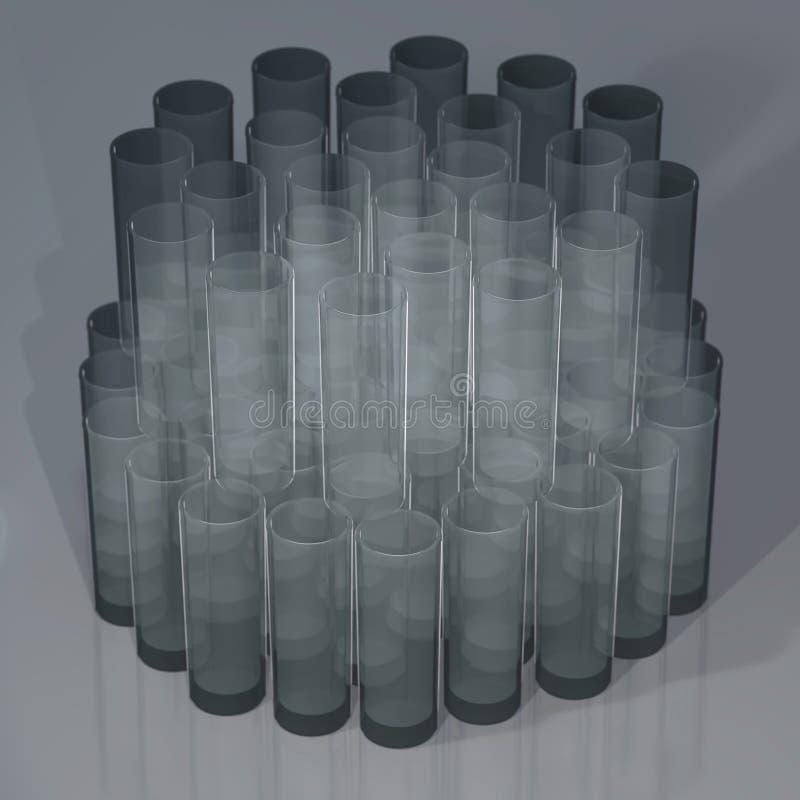 Uppsättning av tomma exponeringsglas arkivfoton