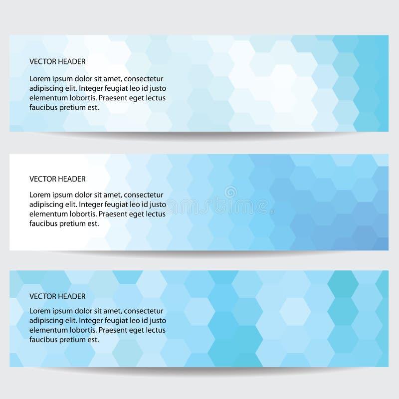 Uppsättning av tre baner, abstrakta titelrader royaltyfria bilder