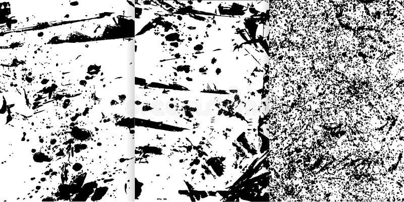 Uppsättning av tre svartvit hand drog texturer för din design vektor illustrationer