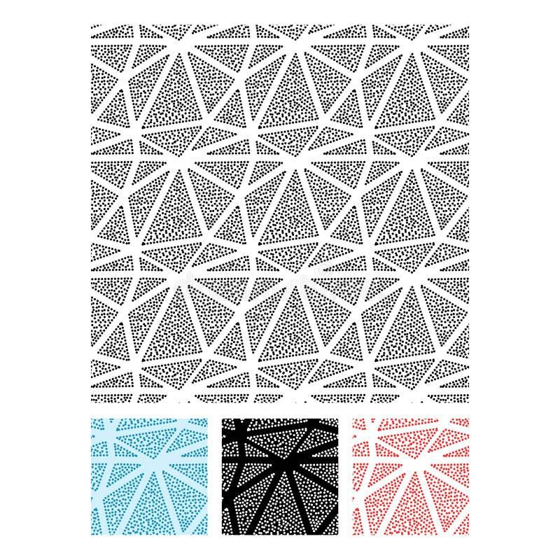 Uppsättning av trianglar och den sömlösa vektormodellen för cirklar royaltyfri illustrationer