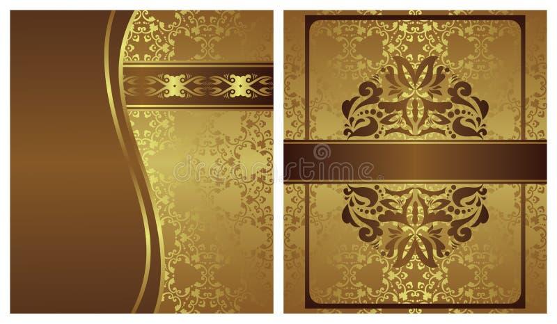 Uppsättning av två inbjudningar royaltyfri illustrationer