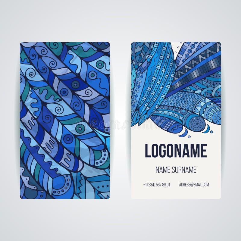 Uppsättning av vektordesignmallar Broschyrer i slumpmässig färgrik stil Zentangle designer stock illustrationer