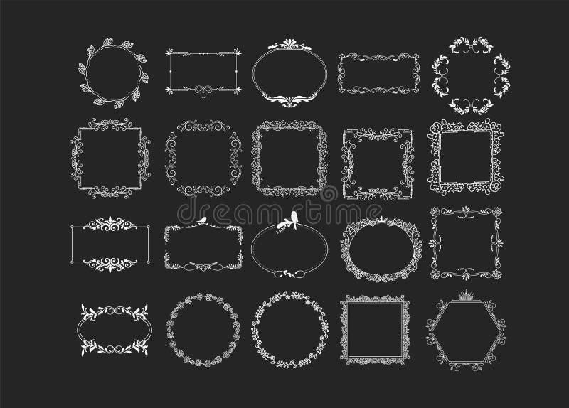 Uppsättning av vektortappningbeståndsdelar royaltyfri illustrationer