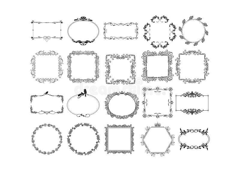 Uppsättning av vektortappningbeståndsdelar vektor illustrationer
