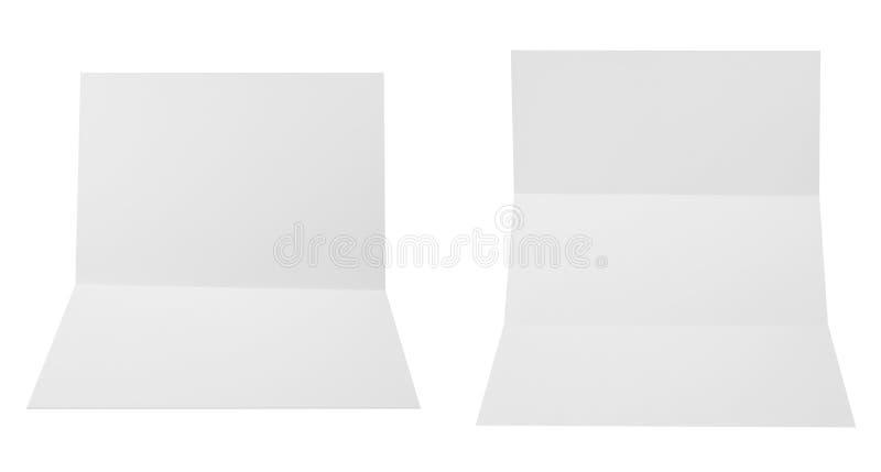 Uppsättning av vikta ark för papper A4 vektor illustrationer