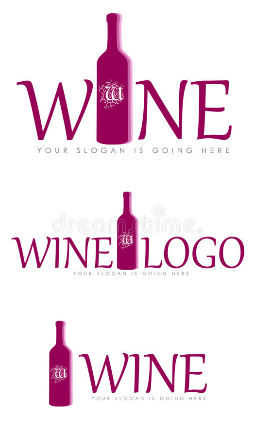 Uppsättning av vinlogoer arkivfoton