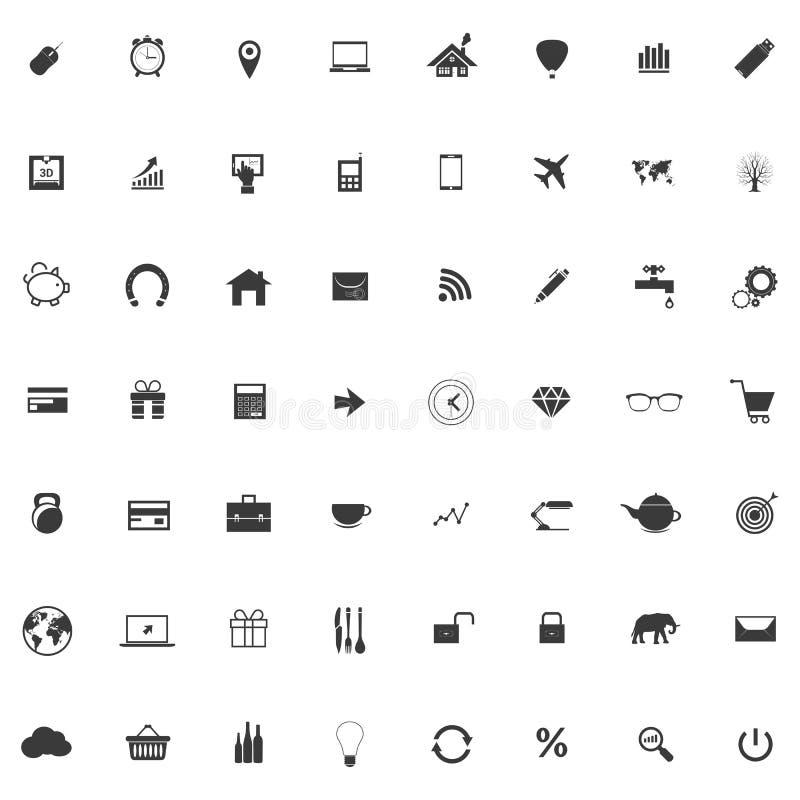 Uppsättning eller samling av symboler för rengöringsdukdesign stock illustrationer