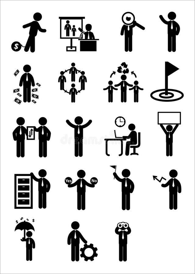 Uppsättning för affärsrengöringsduksymbol royaltyfri illustrationer