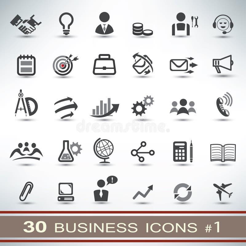 uppsättning för 30 affärssymboler vektor illustrationer