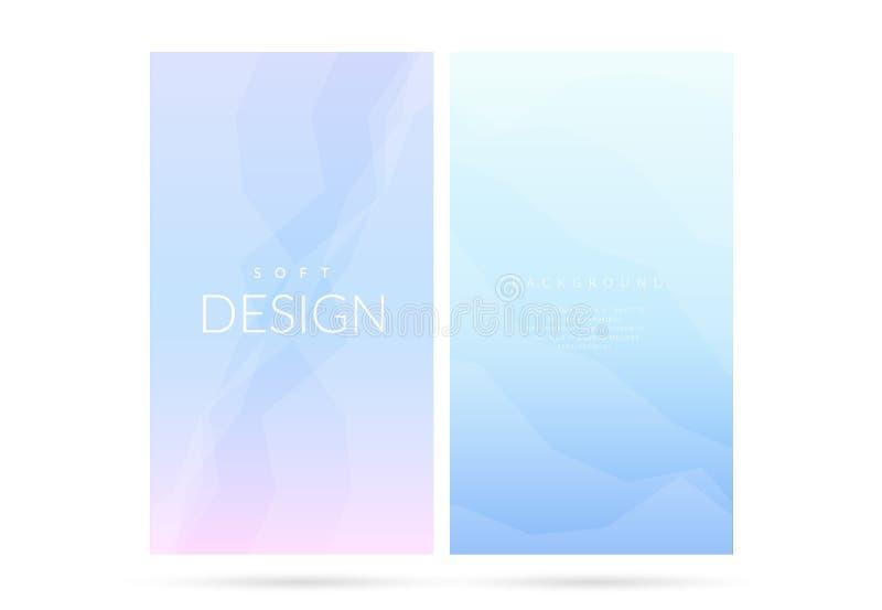 Uppsättning för bakgrund för suddig mjuk färglutning vertikal stock illustrationer