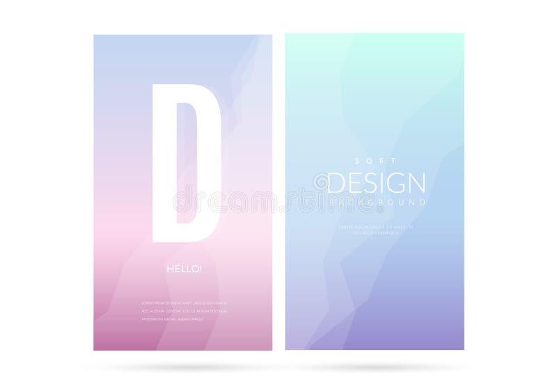 Uppsättning för bakgrund för suddig mjuk färglutning vertikal vektor illustrationer