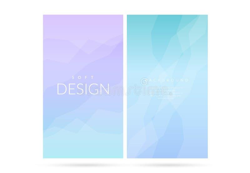 Uppsättning för bakgrund för suddig mjuk färglutning vertikal royaltyfri illustrationer