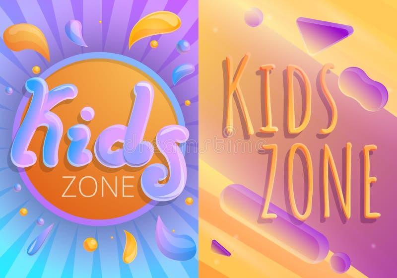 Uppsättning för barnlekplatsbaner, tecknad filmstil royaltyfri illustrationer