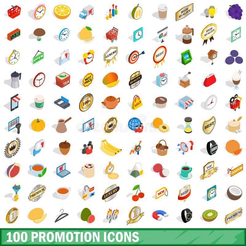 uppsättning för 100 befordransymboler, isometrisk stil 3d vektor illustrationer