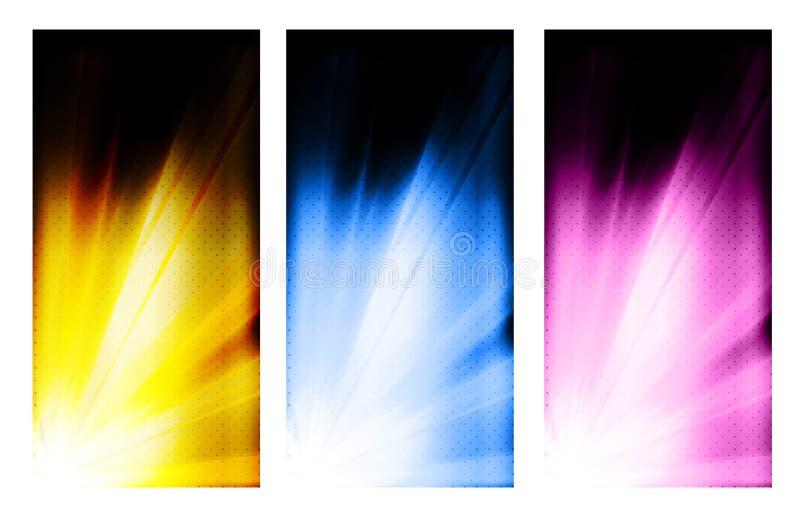Uppsättning för design för affärsfärgbroschyr royaltyfri illustrationer