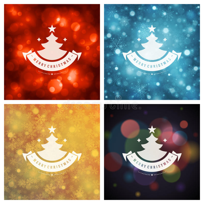 Download Uppsättning För Design För Kort För Jultypografihälsning Vektor Illustrationer - Illustration av ferie, emblem: 78727573