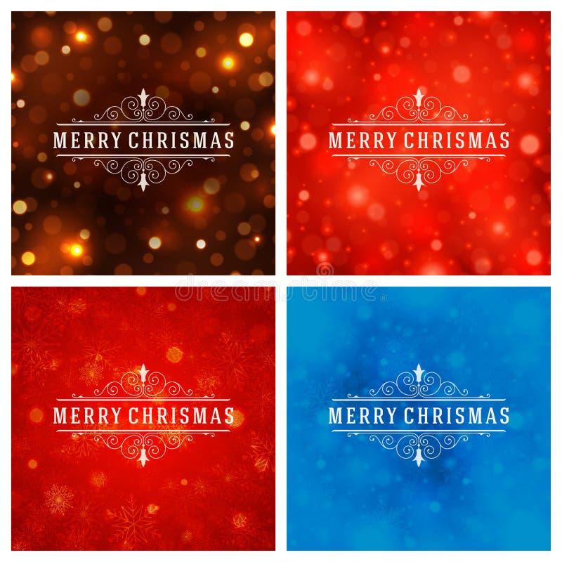 Download Uppsättning För Design För Kort För Jultypografihälsning Vektor Illustrationer - Illustration av beröm, inbjudan: 78727622