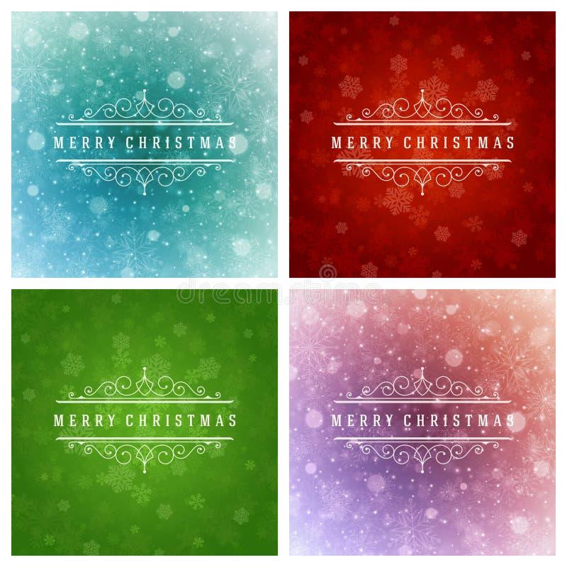 Download Uppsättning För Design För Kort För Jultypografihälsning Vektor Illustrationer - Illustration av kort, hälsning: 78727636