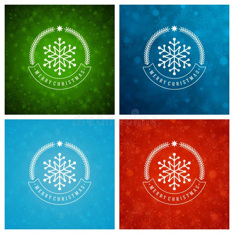 Download Uppsättning För Design För Kort För Jultypografihälsning Vektor Illustrationer - Illustration av lyckligt, beröm: 78727806