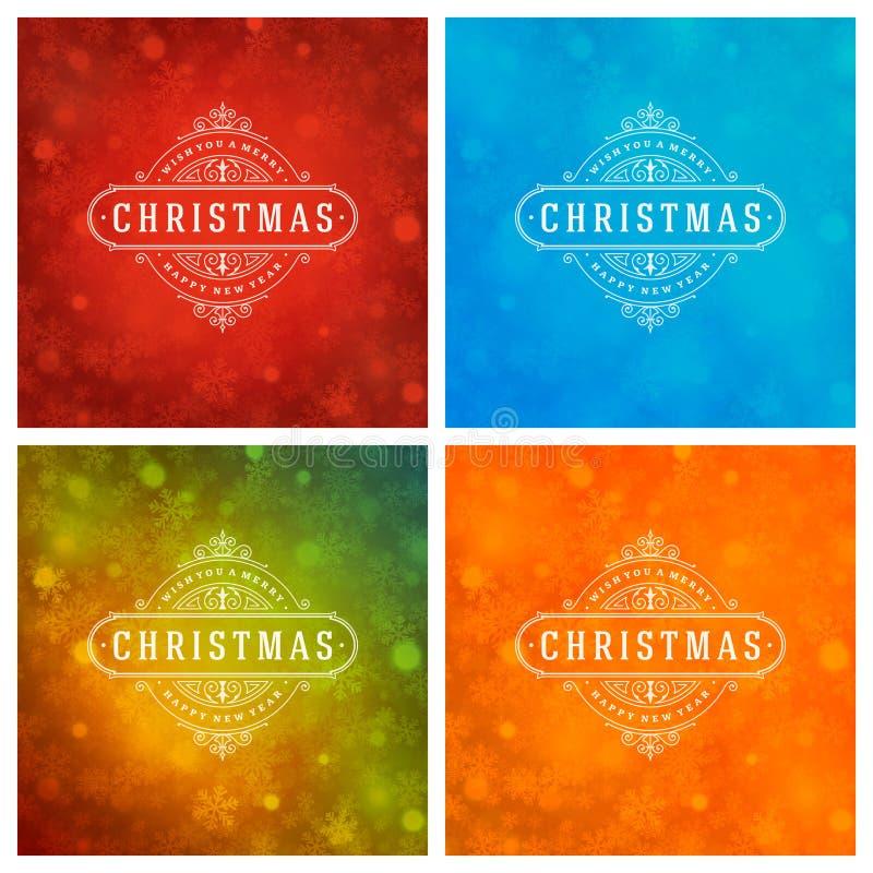 Download Uppsättning För Design För Kort För Jultypografihälsning Vektor Illustrationer - Illustration av illustration, festligt: 78727866