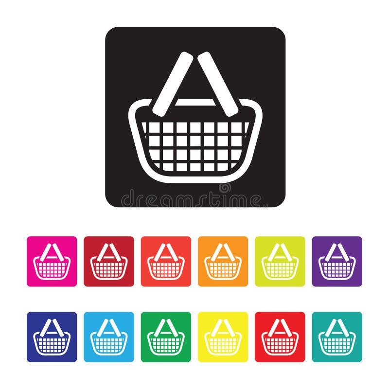uppsättning för E-kommers försäljningssymbol vektor illustrationer
