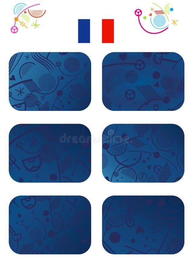 Uppsättning för Europa mästerskapkort royaltyfri illustrationer