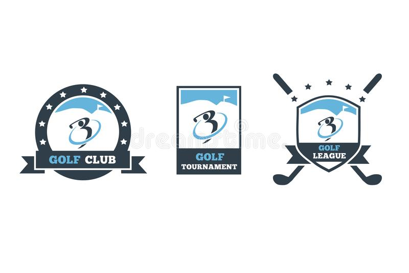 Uppsättning för golfklubblogo 3 royaltyfri illustrationer