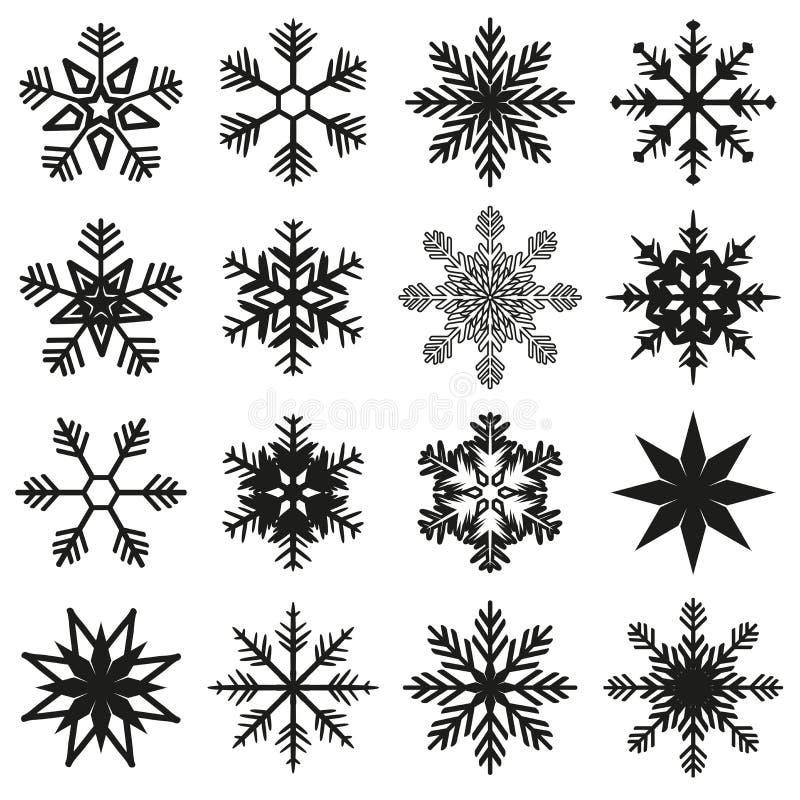 Uppsättning för iskristall royaltyfri illustrationer