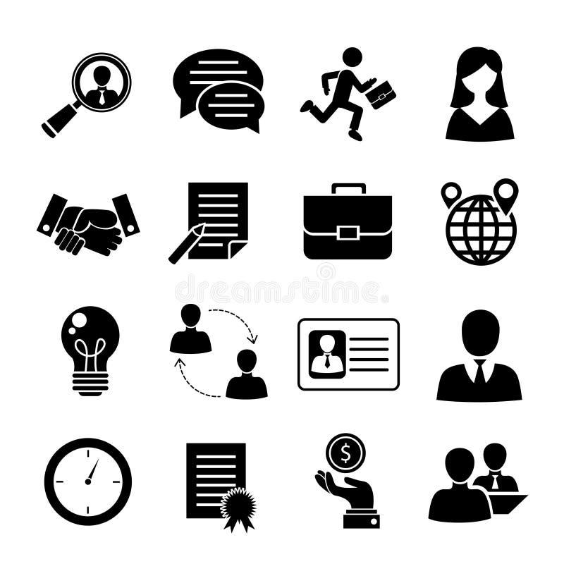 Uppsättning för jobbintervju royaltyfri illustrationer