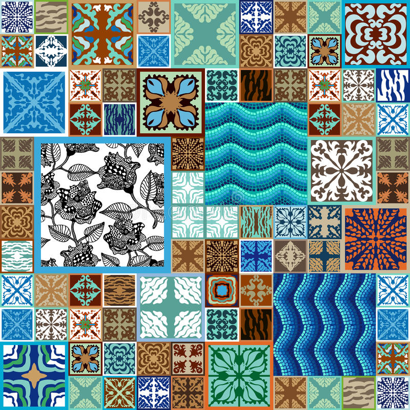 Uppsättning för keramiska tegelplattor royaltyfri bild